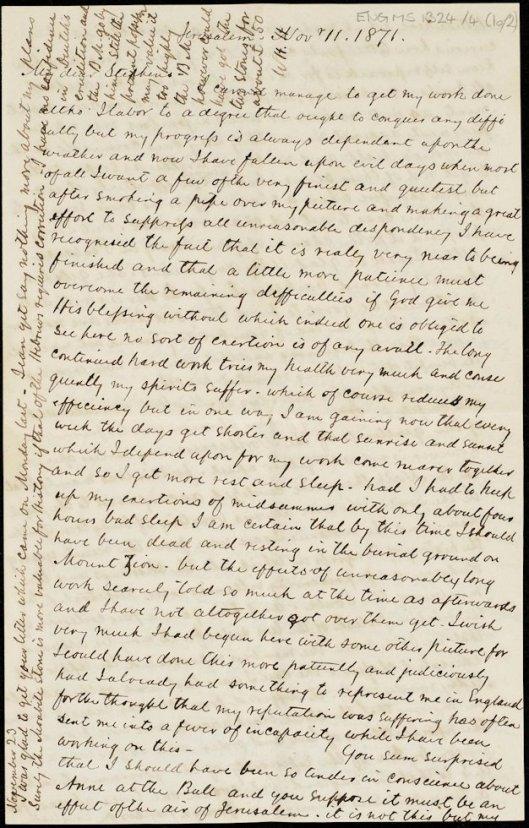 Holman Hunt letter