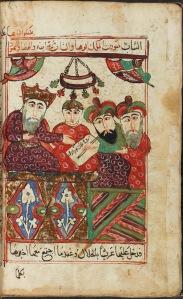 Illustration of Arabic tale