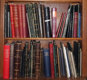 Photograph of John Rylands Library manuscript catalogues