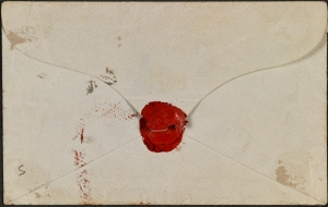 Reverse of envelope, showing Carlyle's seal