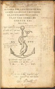 Rylands Castiglione R220959 title page