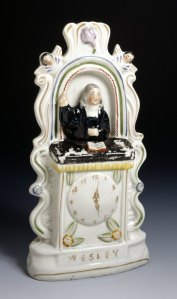 Ceramic ornament depicting John Wesley. Sidney Lawson Ceramics Collection.