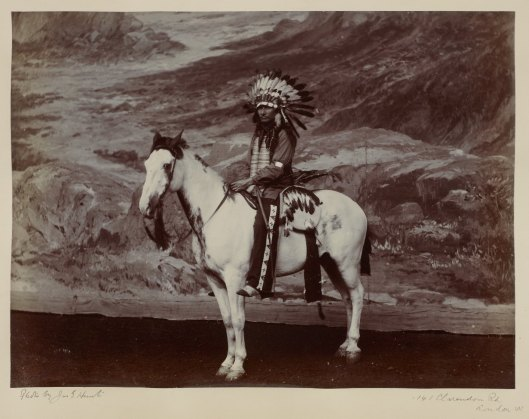 Native American on horseback