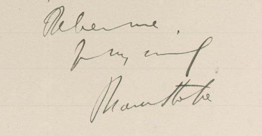Stoker autograph