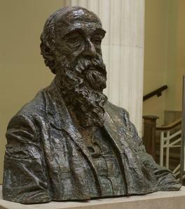 Epstein's bust of Samuel Alexander, in the foyer of the Samuel Alexander Building.