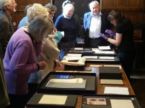 Norman Nicholson Society members viewing the collections. Photograph courtesy of Charlie Lambert