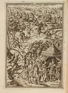 Illustration to Canto I, Orlando Furioso (1584). Spencer 7699.