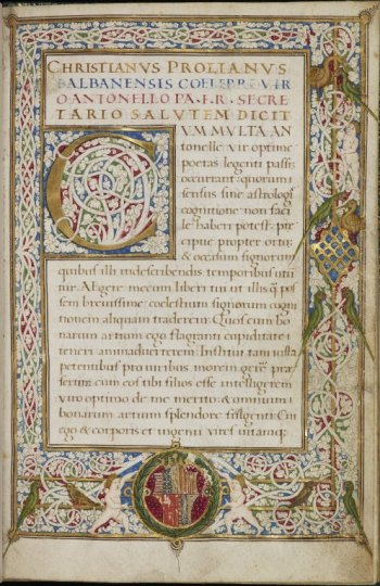 Christianus Prolianus, Astronomia, c.1478, Latin MS 53, f.1r