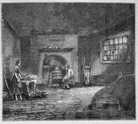 Engraving of a Manchester tenement, c.1800. © University of Manchester Library.