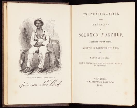 Solomon Northup, Twelve Years a Slave (New York: C.M. Saxton, 1859).