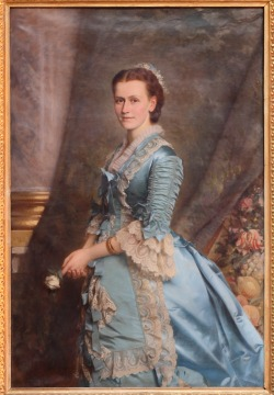 Blanche Marion Kay-Shuttleworth painted by Michele Gordigiani, 1876. With kind permission from the Shuttleworth family.