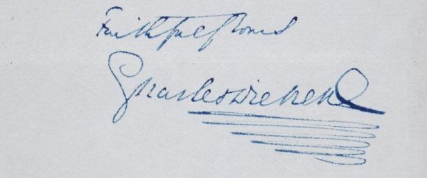Dickens autograph