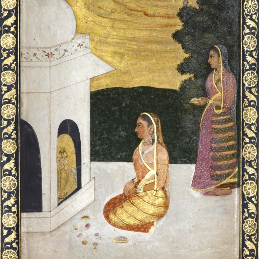 Today is Mahatma Gandhi's 145th Birthday! We're celebrating with this illustration of an Indian woman making offerings at a Hindu shrine. Happy birthday Gandhi!