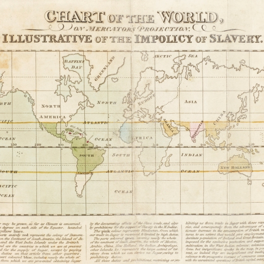 Its Black History Month, here is a coloured map of the world illustrating why slavery is poor economics.