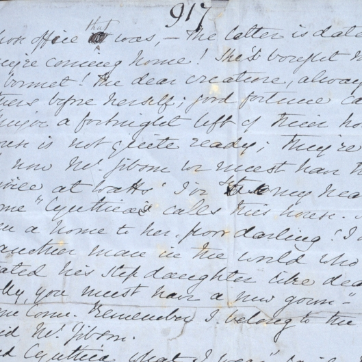 Here's the penultimate page of Gaskell's handwritten manuscript, Wives & Daughters. Gaskell sadly died before finishing it. Gaskell's House reopened to the public on 5th October.
