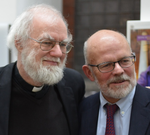 Rowan Williams and Michael Schmidt, Managing Editor of Carcanet Press.