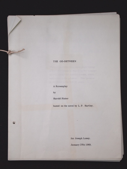 Harold Pinters' screenplay for the film version of The Go-Between. L.P. Hartley Papers, box 45/3.