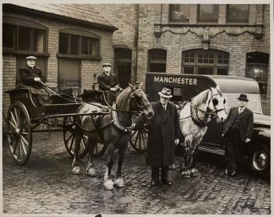 'The last of the Manchester Evening News ponies to leave', 25 March 1952 (for more about the role of the 'ponies', see the recent Guardian News Media Archive blog post).