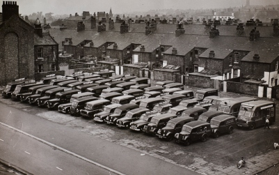 Broughton garage in Salford, 1955-56.