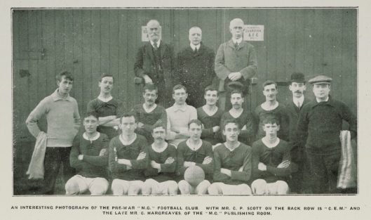 Manchester Guardian Football Club, as seen in the House Journal, no. 63, February 1930