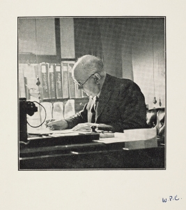 W.P. Crozier in the office.