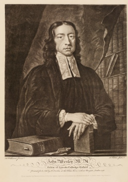 3. Engraving of John Wesley by John Faber, c.1741.