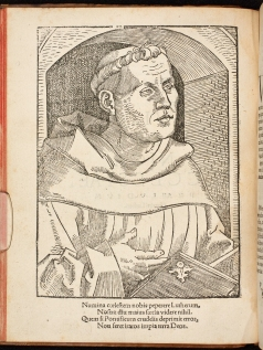 A portrait of Martin Luther printed in 'De captivitate Babylonica Ecclesiae' (Strasbourg, 1520).