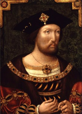Henry VIII in 1520 (unknown Anglo-Dutch artist) courtesy of the National Portrait Gallery.