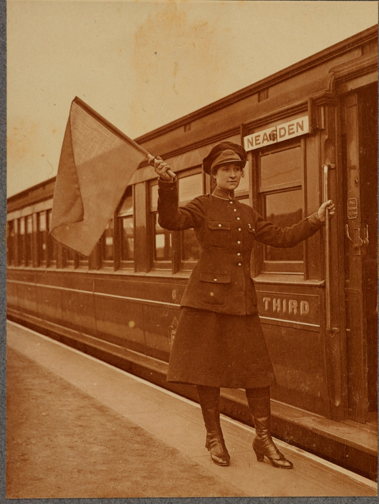 Railway Worker from Arthur Reavil Photograph Album. VPH.5.13