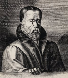 A 16th century engraving of William Tyndale, religious radical responsible for the first printing of the Bible into English.
