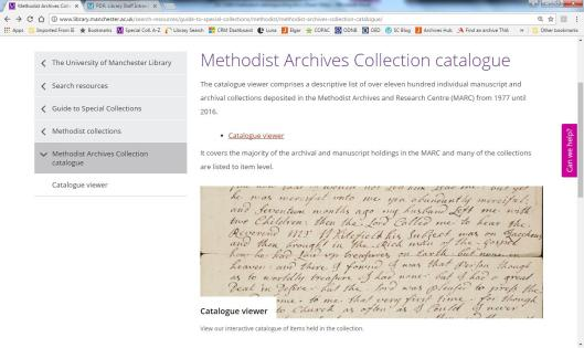 Methodist catalogue webpage