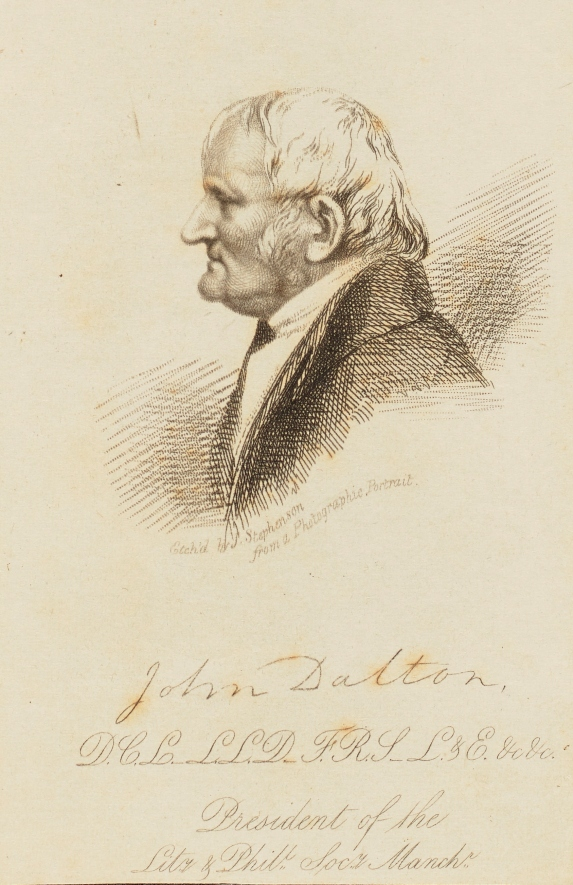 etching of John Dalton
