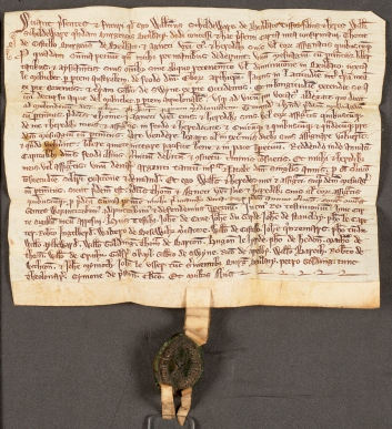 Deed of gift from William Scheldware of Beverley, tailor, undated [before 1330]. Arley Charters, ARL/24/24.