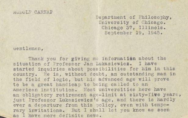 Carnap letter