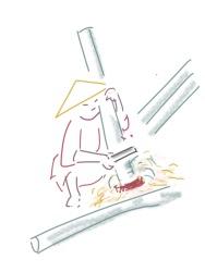 Figure 3. Drawing of shaving plants