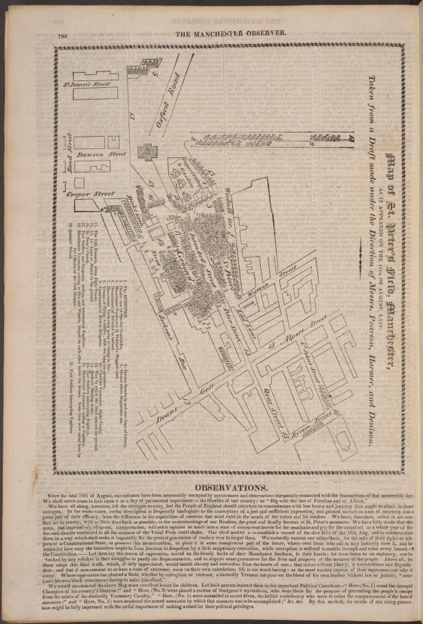 map of site MO Observer 23 Oct 1819