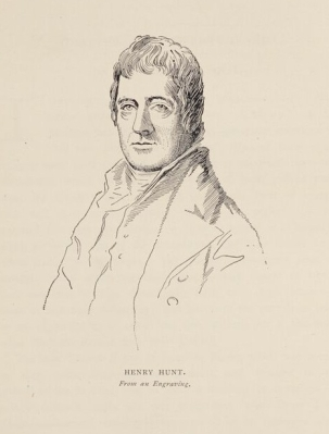 Engraving of Henry Hunt, from The Manchester Man (1877). University of Manchester Library.