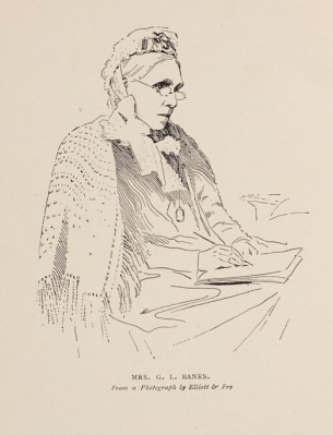 Engraving of Isabella Banks, from The Manchester Man (1877). University of Manchester Library.