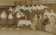 Pioneer Club presentation. Margaret Pilkington is in the audience. c1917
