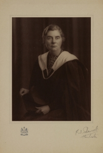 Official photograph commemorating Margaret's honorary MA degree, 1942