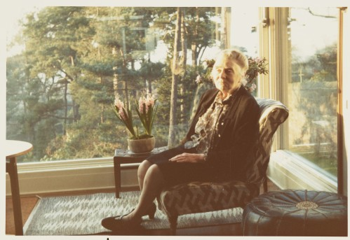 Margaret Pilkington at home, c.1973 PIL/3/1/6/13