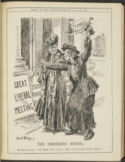 The shrieking sister, Punch Magazine, 1906
