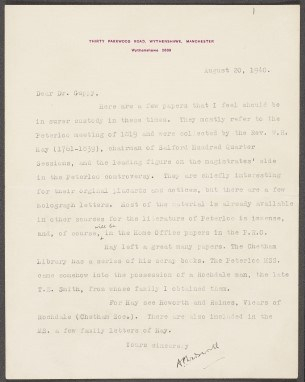 Wadsworth letter